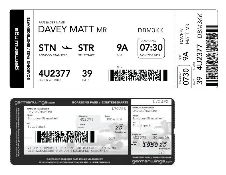 plane ticket template